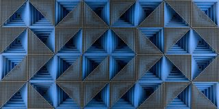 Modern blue panel futuristic background 3d render. 3d illustration royalty free illustration