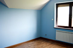 Modern blue room Royalty Free Stock Image