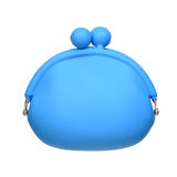 Modern blue rubber purse Royalty Free Stock Photography