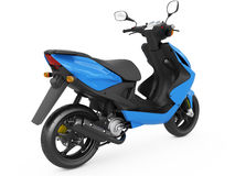 Modern blue scooter Royalty Free Stock Photography