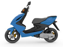 Modern blue scooter Royalty Free Stock Images