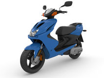 Modern blue scooter Stock Images