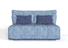 Modern blue sofa. Royalty Free Stock Photography