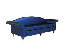 Modern Blue Sofa Stock Photo