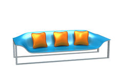 Modern Blue Sofa Royalty Free Stock Photos