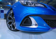 Modern blue sports car Stock Photography