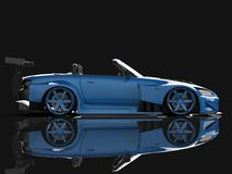 Modern blue sports convertible. Open car with tuning. 3d rendering. Modern blue sports convertible. Open car with tuning. 3d rendering Royalty Free Stock Photography