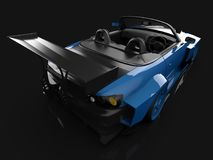 Modern blue sports convertible. Open car with tuning. 3d rendering. Modern blue sports convertible. Open car with tuning. 3d rendering Royalty Free Stock Photo