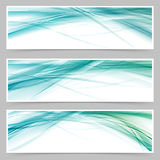 Modern blue swoosh line flyer collection Royalty Free Stock Photo