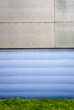Modern blue tile wall Royalty Free Stock Photography