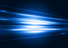 Modern blue transparent hi-tech speed of light abstract backgrou Royalty Free Stock Images