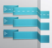 The Modern blue vector banner Royalty Free Stock Image