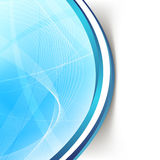 Modern blue wave swoosh line border background Royalty Free Stock Image