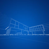 Modern blueprint Royalty Free Stock Image