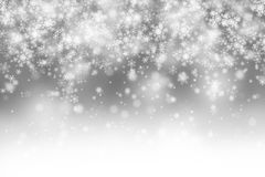 Modern blurry silver abstract copy space snowflake Royalty Free Stock Images