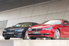 Modern BMW model lineup first class exclusive business sedan car Royalty Free Stock Image