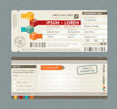 Modern Boarding Pass Wedding Invitation design Tem Royalty Free Stock Images