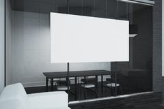 Modern boarding room with billboard Stock Photography