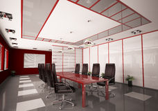 Modern boardroom interior 3d. Render Royalty Free Stock Images