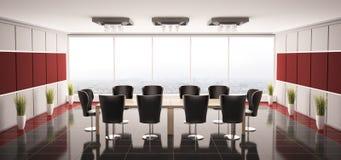 Modern boardroom interior 3d. Modern boardroom interior panorama 3d render