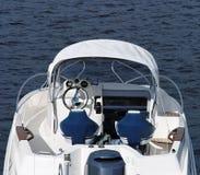 Modern boat. Modern motor boat on water Royalty Free Stock Image