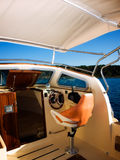 Modern boat cockpit Stock Images