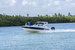 Modern boating in Brazil Stock Photo