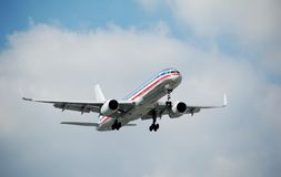Modern Boeing 757 jet airplane Royalty Free Stock Photo