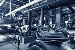 Modern boiler room Stock Images