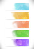 Modern bokeh abstract business cards set Royalty Free Stock Photo