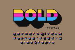 Modern bold design royalty free illustration