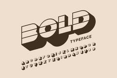 Modern bold font design royalty free illustration