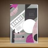 Modern book cover template design Stock Photos