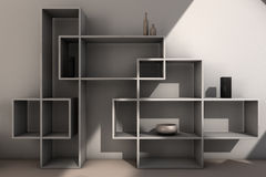 Modern bookcase. View of modern designed bookcase, computer generated image Stock Image