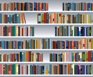 Modern bookshelf Stock Photos