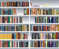 Modern bookshelf. With many books Royalty Free Stock Images