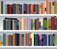 Modern bookshelf Royalty Free Stock Photo
