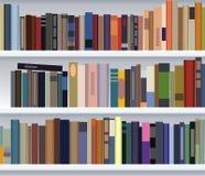 Modern bookshelf. With many books Royalty Free Stock Photo
