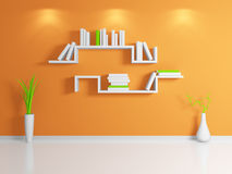 Modern bookshelf. Stock Image