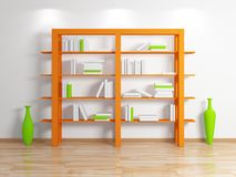 Modern bookshelf. Stock Photography