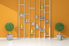 Modern bookshelf Royalty Free Stock Image