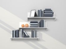 Modern bookshelf Royalty Free Stock Photos