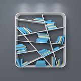 Modern bookshelf Stock Photography