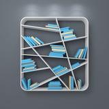 Modern bookshelf Stock Photography