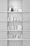 Modern bookshelf Royalty Free Stock Images