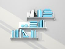 Modern bookshelf Stock Photo