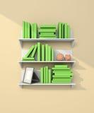Modern bookshelf Stock Image