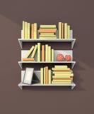 Modern bookshelf Stock Images