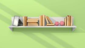Modern bookshelf Royalty Free Stock Photo