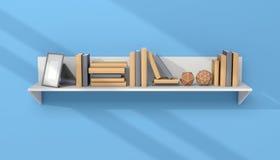Modern bookshelf Royalty Free Stock Images